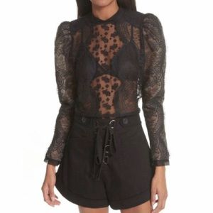 Self-Portrait Scalloped Floral Lace Puff Sleeve 6